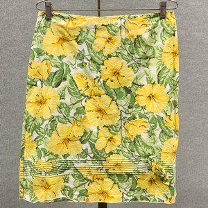 Vintage Style Floral Skirt Size 11